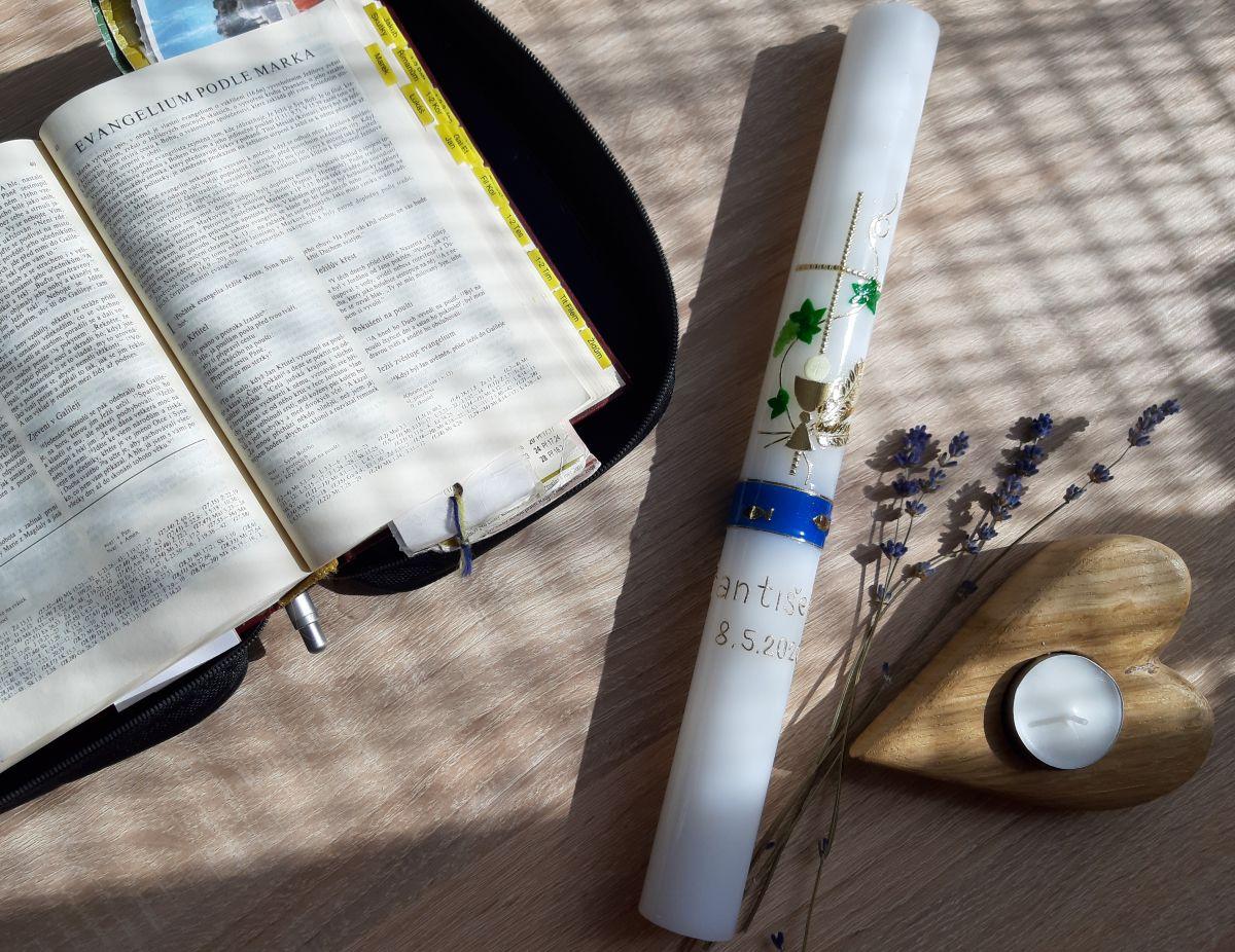 Svíce k 1.sv.přijímání - KALICH A VÍNO